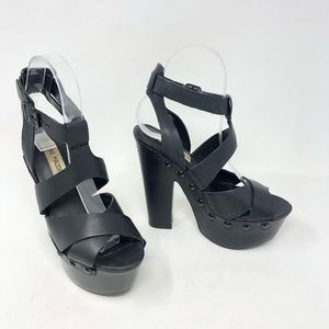 Steve Madden Seerius Genuine Leather Platforms 6